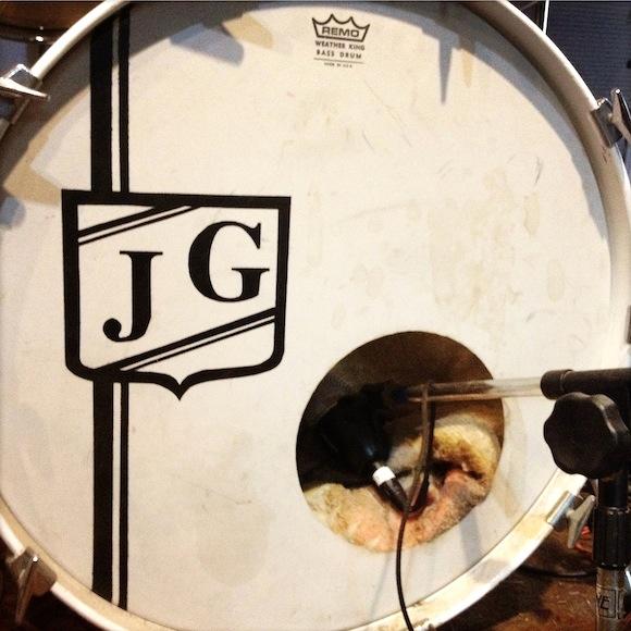James Gadson's monogrammed kick drum | Photo: Oliver Wang