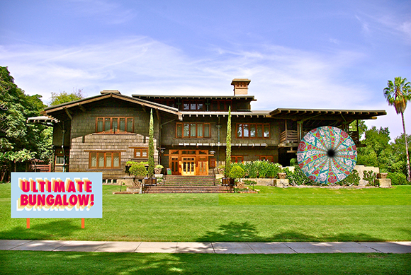 """""""The Machine Project Field Guide to The Gamble House,"""" Artist mock up featuring Jessica Cowley and Patrick Ballard, 2014 