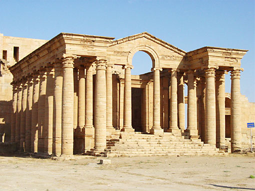 The Maran Temple in the city of Hatra, Iraq one of the archeological sites worked on by the Getty Conservation Institute. | Photo: Courtesy of Joanne Farchakh-Bajjaly