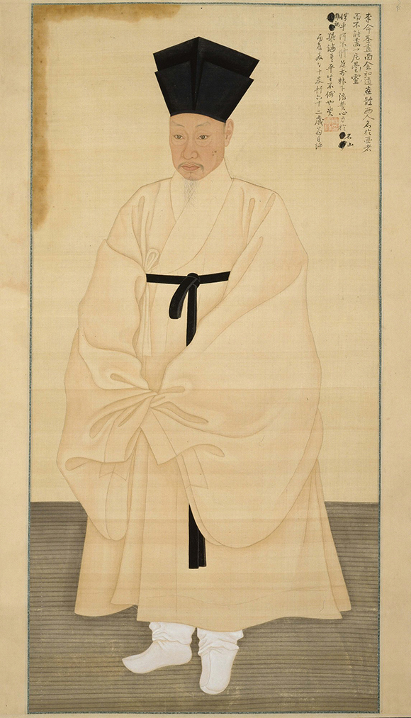 """Portrait of Seo Jik-su,"" by Yi Myeong-gi (Korean, born 1756) and Kim Hong-do (Korean, 1745-after 1806), 1796; Paint on silk; 148.8 x 72.4 cm (58 9/16 x 28 1/2 in.); © National Museum of Korea, Seoul 국립중앙박물관, EX.2013.1.13"