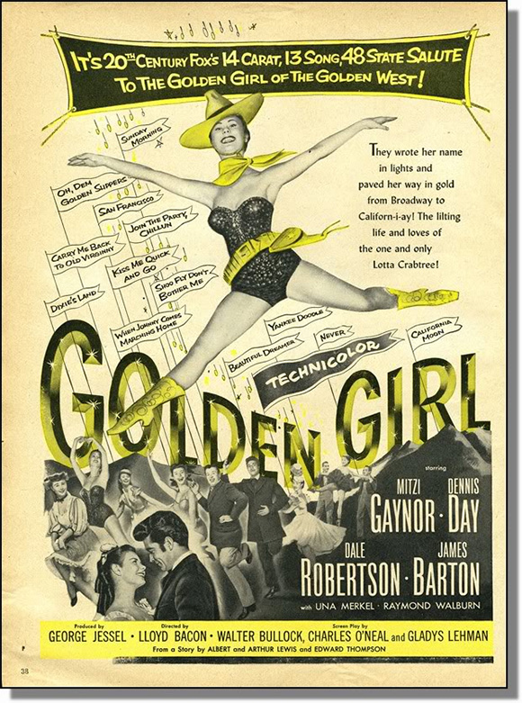 """Golden Girl,"" 1951 