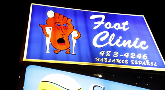 Sunset Foot Clinic Sign