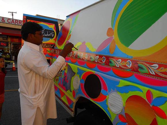 Truck Artist Haider Ali at International Street Fair & Diversity Festival | Courtesy Los Angeles / Islam Arts Initiative