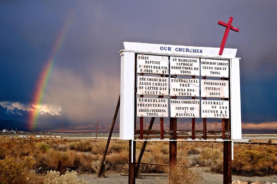 Sign of Our Time - Trona, CA - 2012 | Photo: Osceola Refetoff