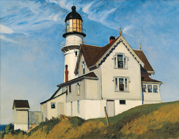 "Edward Hopper, ""Captain Upton's House,"" 1927. Oil on canvas, 28x36in. 