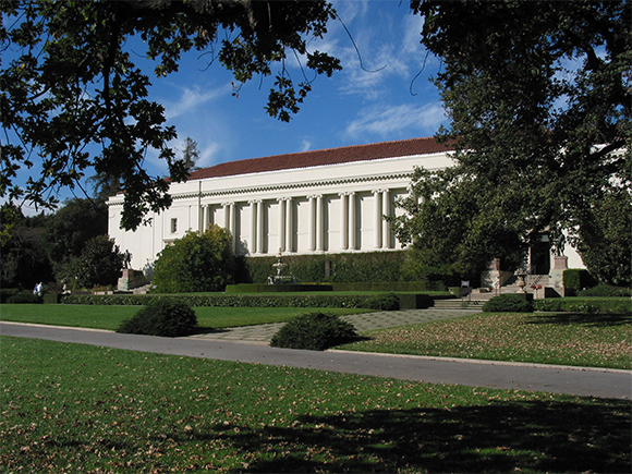 The Library Building at the Huntington Library, Art Collections, and Botanical Gardens.