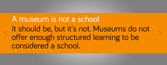 "A response to ""Is a museum a school?"" <em>What #isamuseum?</em> project, Sam Durant."