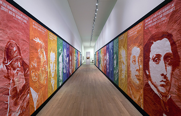 """Mike Kelley, """"Pay For Your Pleasure"""" 1988, installation view, dimensions variable. The Museum of Contemporary Art, Los Angeles; Gift of Timothy P. and Suzette L. Flood 