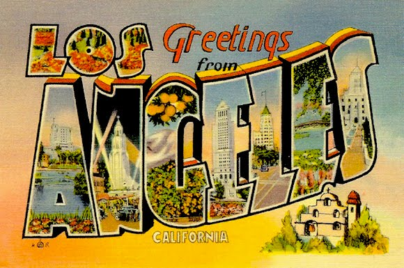 Los Angeles postcard circa 1930s