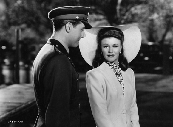 "Film still for ""The Major and the Minor"" (1942), © Paramount Pictures. Courtesy of the Margaret Herrick Library, Academy of Motion Picture Arts and Sciences. Shown from left: Ray Milland, Ginger Rogers."