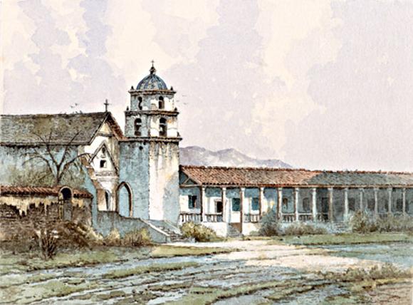 """""""San Buenaventura"""" by Edwin Deakin"""