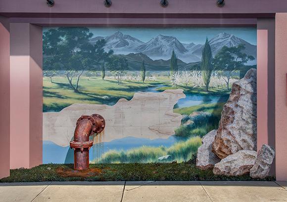 "John Pugh's 2005 ""Drain"" mural, photograph (2012) | Kim Stringfellow"