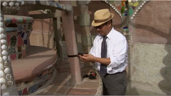Alan Nakagawa at Watts Towers