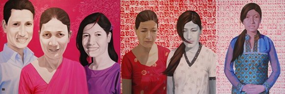"""""""Return Him Back Dead Or Alive"""" by Hit Man Gurung, acrylic on canvas, 2011. 