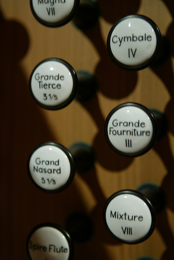 Organ stops, closeup | Photo: Craig Mathew/Mathew Imaging