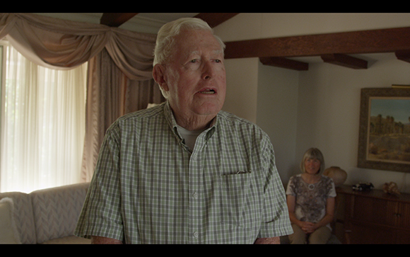 "Nicole Miller, still from video series ""Believing Is Seeing,"" featuring Redlands residents Harold Hartwick and Diana Kriger"