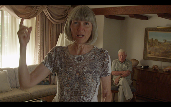 "Nicole Miller, still from video series ""Believing Is Seeing,"" featuring Redlands residents Diana Kriger and Harold Hartwick"