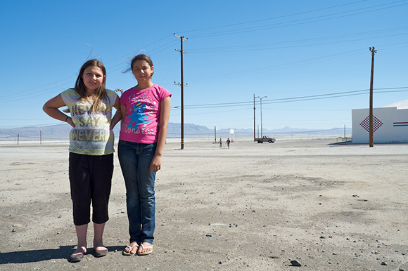 'Never Say Never, 'Katlynn & Alyssia, Trona Centennial Weekend, 2014  | Photo: Osceola Refetoff.