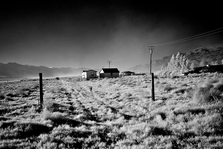 Dust Storm - Infrared Exposure - Keeler, CA - 2013   Photo: Osceola Refetoff