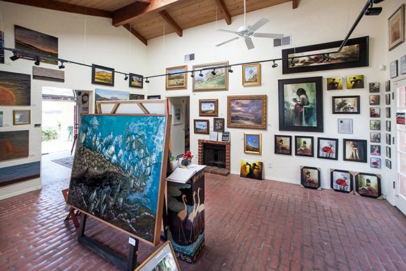 Reza Sepahdari's art gallery   Photo: Chip Morton.