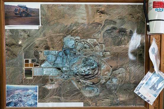 A bird's eye view of the nearby Rio Tinto Borax mine where Eyre exclusively sources ulexite. | Photo © Kim Stringfellow.