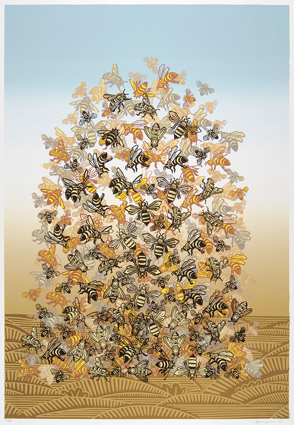 "Sonia Romero, ""Bee Pile"""