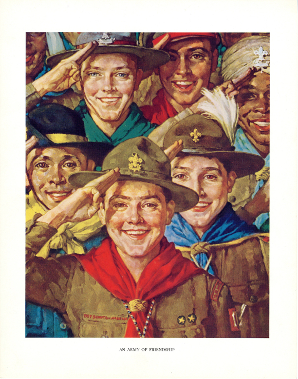 """An Army of Friendship,"" Norman Rockwell. 