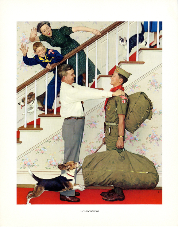 """Homecoming,"" Norman Rockwell. 