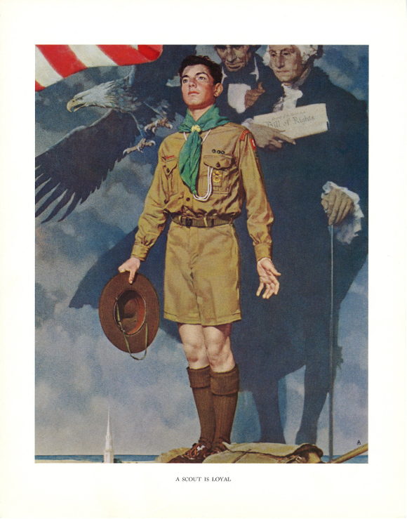 """A Scout is Loyal,"" Norman Rockwell. 