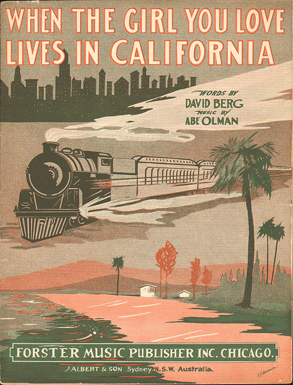 When The Girl You Love Lives in California | Courtesy: LAPL.