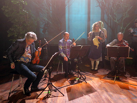 """Vireo"" rehearsal with Kronos Quartet