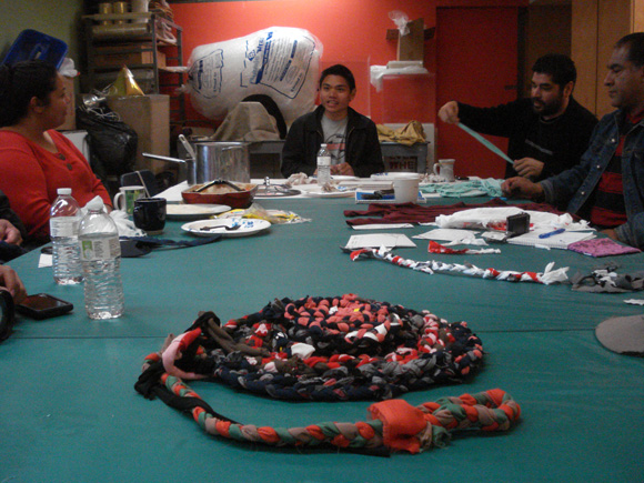 The Workers' Rug collective meeting at CAFAM | Photo: Jade Thacker.