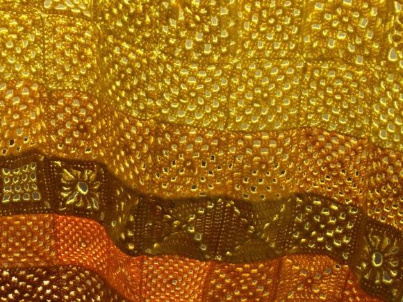 Yellow granny squares. | Photo: Susie Nicholson.