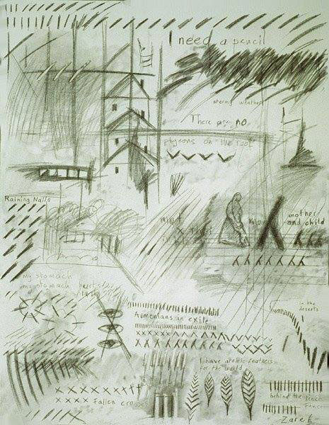 Untitled, by Zareh, 1998, graphite on canvas | Image Courtesy of the artist
