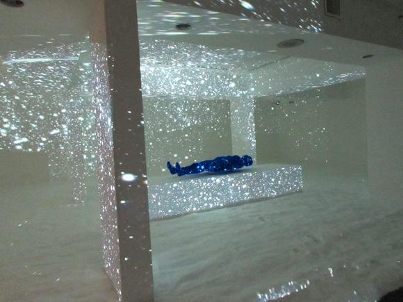 "Site specific installation by Lita Albuquerque for ""Particle Horizon"" at Laguna Art Museum"