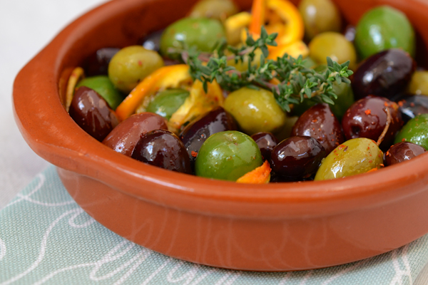 Roasted Olives with Citrus and Herbs