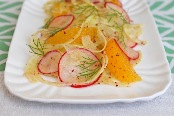 Shaved Fennel and Radish Salad with Citrus and Sumac