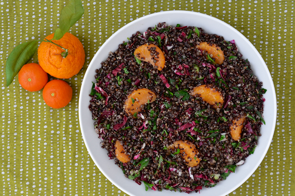 Quinoa and Lentil Salad with Radicchio and Orange