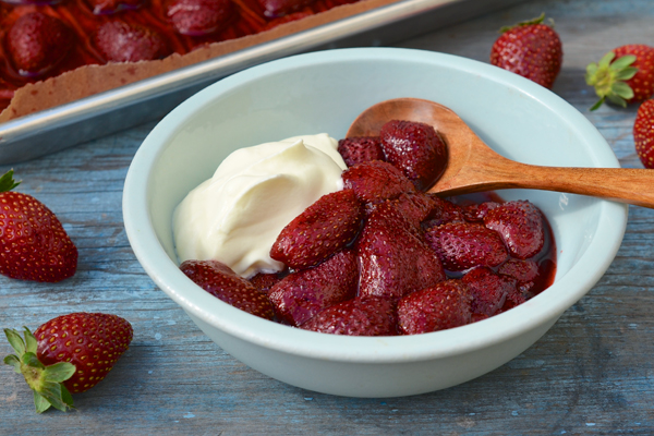 Balsamic-Honey Roasted Strawberries