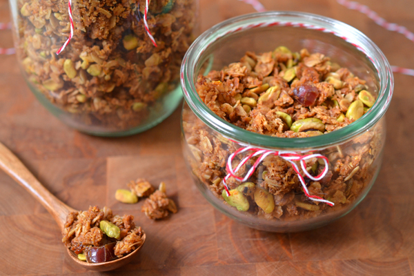 Orange, Pistachio and Date Granola