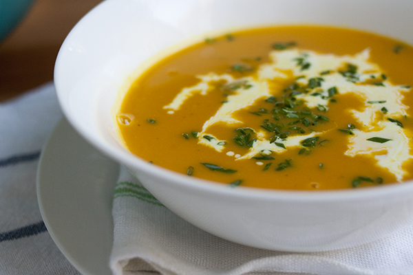 Acorn Squash and Turmeric Soup
