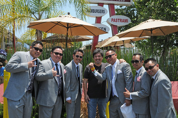 Guerrero and the groomsmen