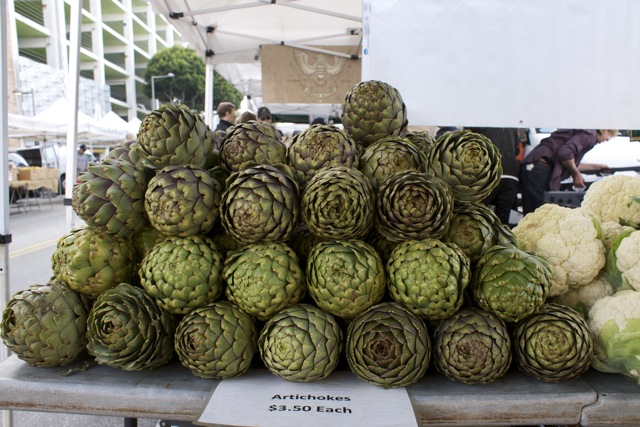 Big artichokes! It's still early in the season for them
