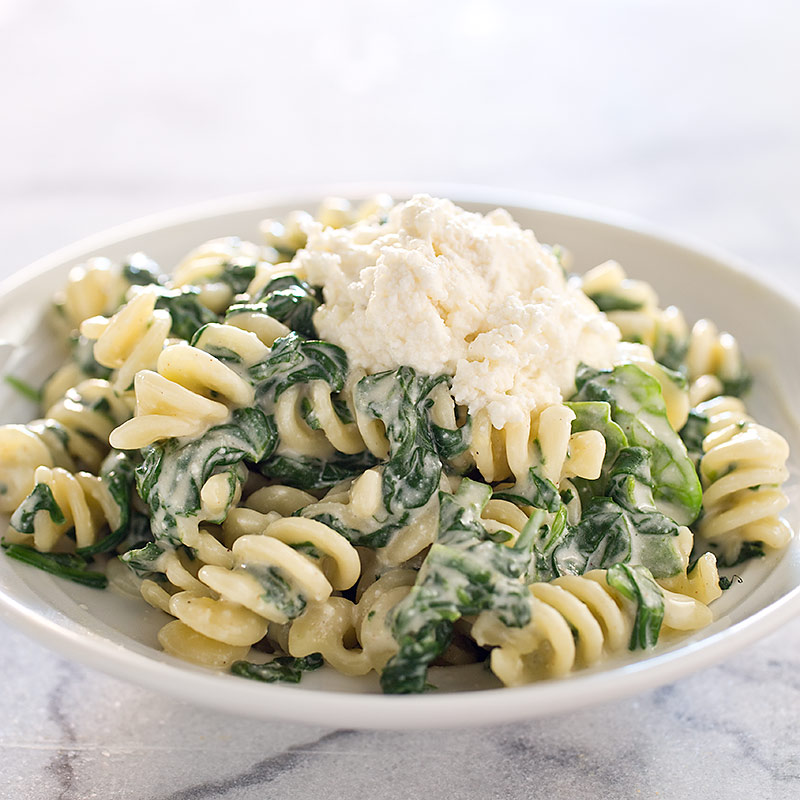 Weekend Recipe Fusilli With Ricotta And Spinach Kcet