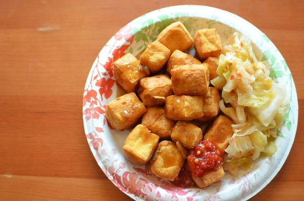 Stinky tofu from Hugo Foods. | Photo credit: Clarissa Wei