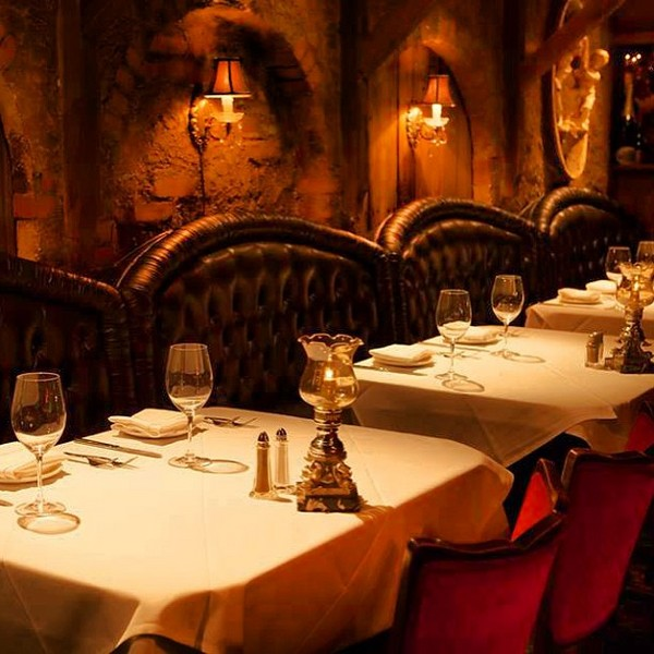 The Cellar in Fullerton, where Burton proposed to Taylor a second time. The restaurant was made by the same craftsmen who designed Disneyland's Pirates of the Caribbean ride.