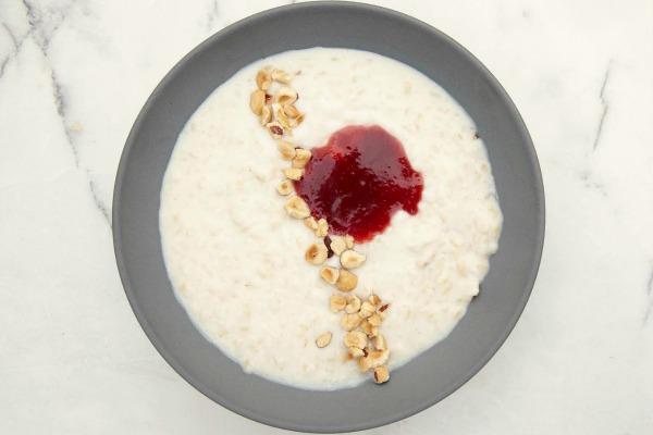 Rice porridge with jam | Photo by Jessica Koslow