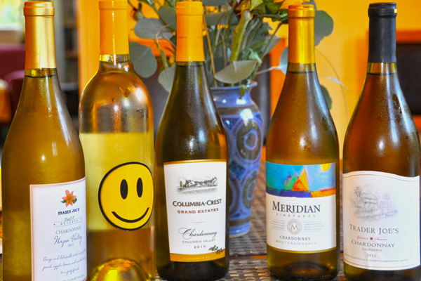 5 $6 Chardonnays from Trader Joe's
