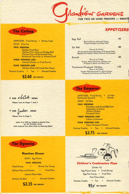 Historic Chinese Menus From L A 's Chinatown and Beyond | KCET