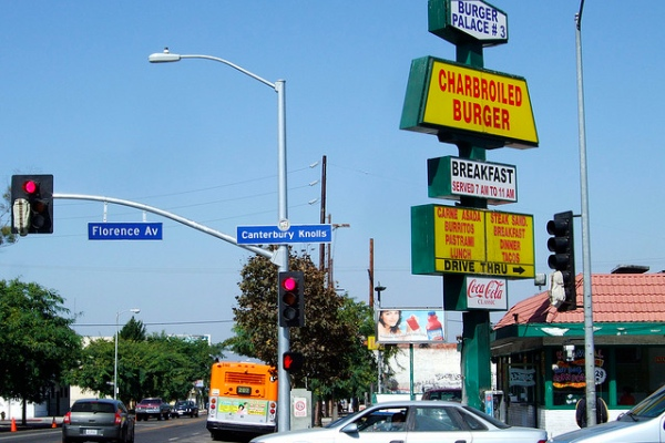 Site of the first Carl's Jr., in South L.A.;
